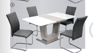 Castello Ext. Dining Set (120/160 cm)