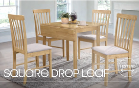 Cologne Square Drop Leaf Dining Table