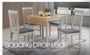 Altona Square Drop Leaf Dining Set with 4 Chairs