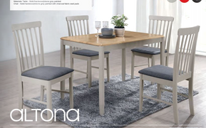 Altona 1 x 4 Dining Set