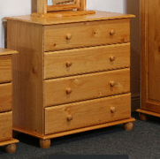 Alex 4 Drawer Chest  Solid Pine (Self assembly Required)