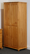 Alex 2 Door Wardrobe   Solid Pine (Self Assembly Required)