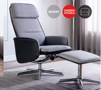 Alexis Longue Chair & Footstool