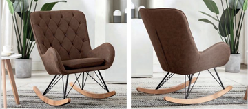 Ashley Rocking Chair-Brown