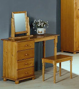 Alex Dressing Table R hand with 4 Drawer Unit  Solid Pine (Self Assembly Required)  Mirror And Stool not included both are sold seperately