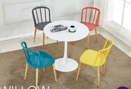 Eton Dining Set With 4 Willow Chairs