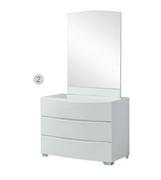 Bethany 3 Drawer Dresser & Mirror-White Gloss