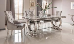 Arianna 180cm Dining Table-Grey
