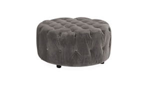 Darby Round Foot Stool-Grey