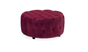 Darby Round Foot Stool-Berry