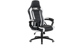 Landon Gaming Office Chair-Black White Grey