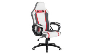 Landon Gaming Office Chair-White Grey Red