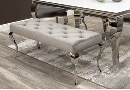 Louis Dining Bench-Grey 130 cm