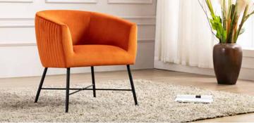 Zara Occasional Chair-Pumpkin