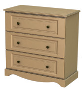 Rococo 3 Deep Drawer Chest