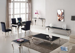Louis End Table-Black