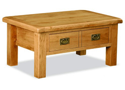 Salisbury Oak Coffee Table With Drawer