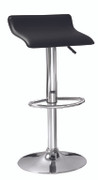 Berlin Barstool Black Faux Leather  Gas Lift Barstool W39cm X D38cm X H54/77cm