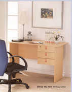 Beech  Desk  3 drawer Desk Top Drawer Has a Lock  W120cm X D60cm