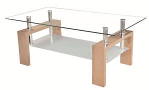 Frankfurt Oak Coffee Table  Oak and Glass  W100cm X D60cm X H45cm