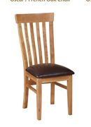 Oscar French oak Chair The range is an absolute must have. This piece is beautifully hand-crafted with solid oak, that will give the impression of rustic, bright and elegant taste to any household.