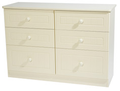 Avimore 6 Medi Drawer Chest The warm complete magnolia look is elegantly stylish and will bring a class look to any home this product comes to  fully assembled