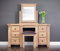 Donny Oak Dressing Table Stool