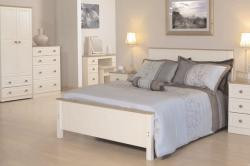 Inspirations 4ft6 Bedframe The warm complete magnolia look is elegantly stylish  combined with pine tops and matching knobs that will bring a class look to any home