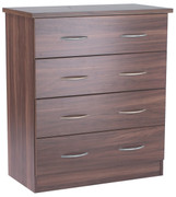 Noche Walnut 4 Drawer Chest walnut bedroom furniture is the ideal choice. With its rich dark wood walnut can transpose the room into a luxurious pad.