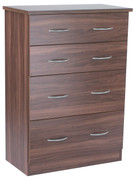 Noche Walnut 4 Drawer Deep Chest Walnut bedroom furniture is the ideal choice. With its rich dark wood walnut can transform the room into a luxurious pad.