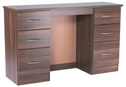 Noche Walnut 6 Drawer Kneehole Dresser Walnut bedroom furniture is the ideal choice. With its rich dark wood walnut can transform the room into a luxurious pad.