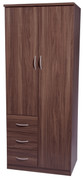 Noche Walnut Combination Wardrobe  Walnut bedroom furniture is the ideal choice. With its rich dark wood walnut it can transform any room into a luxurious pad.