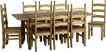 Corona Extending Set - Eight Chairs