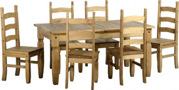 Corona Fixed Dining Set- 6 chairs