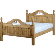 Corona Scroll 4'6'' Bed High Foot End