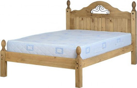 Corona Scroll 4'6'' Bed Low Foot End
