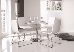 Orbit Dining Table - Clear (90cm)