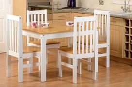 Ludlow 1+4 Dining Set-White