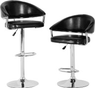 Brooklyn Swivel Black Bar Chair with Gas Lift