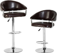 Brooklyn Swivel Brown Bar Chair with Gas Lift