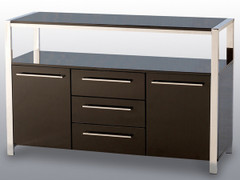 Charisma 2 Door 3 Drawer Sideboard- Black
