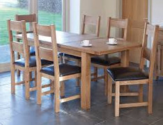 Hampshire Extending Dining Table Set With 6 Dining Chairs - (225/310 cm)