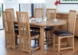 Hampshire Extending Oval Table Set With 6 Hampshire Dining Chairs (180-220cm)