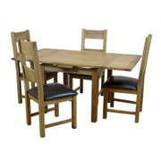 Hampshire Extending Square Table Set With 4 Hampshire Dining Chairs