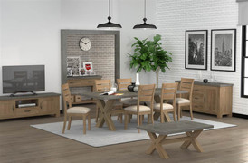Rockhampton Dining Set With Six Chairs (230cm)
