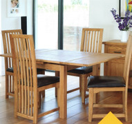 Hampshire Extending Square Table Set With 4 Hatton Dining Chairs