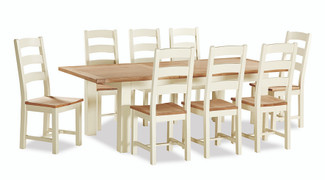 Suffolk Oak Large Butterfly Extension Set With 8 Chairs