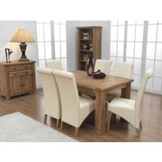 Danube Extending Dining Table Set With 6 Torino Dining Chairs (140-180 cm)