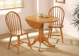 Brecon Honey Dining table + 2 Windsor Dining Chairs