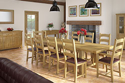 Vintage Oak Large Extending Set With 8 Chairs and 2 Armchairs